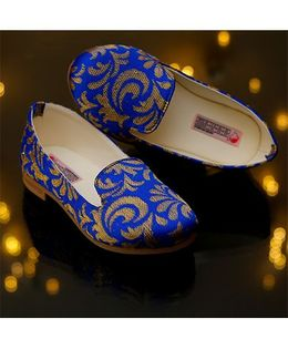 D'chica Mojris Meets Loafers Shoes - Blue & Gold