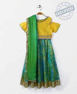 Kids Chakra Shaded Ghagra Choli - Yellow