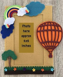 Kalacaree Hot Air Baloon Theme Magnetic Photo Frame - Beige