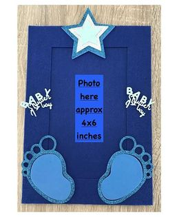 Kalacaree Its A Baby Boy Theme Magnetic Photo Frame - Blue