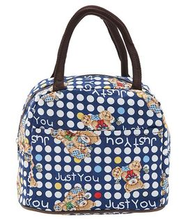 EZ Life Cute Teddy Lunch Box Bag - Blue