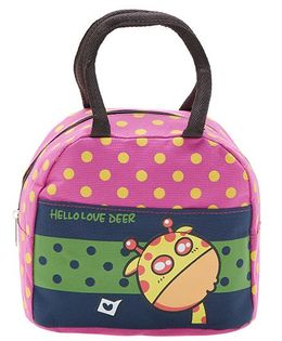 EZ Life Hello Print Lunch Box Bag - Pink