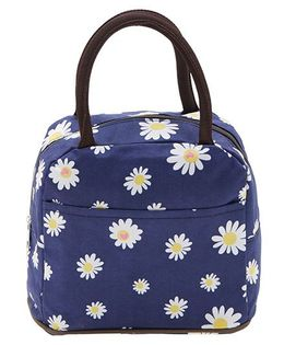 EZ Life Elegant Floral Lunch Box Bag - Blue