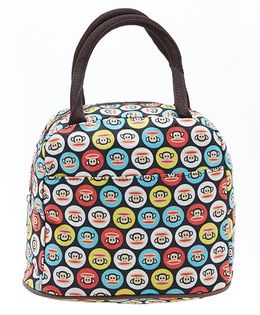 EZ Life Monkey Print Carry Lunch Box Bag - Multicolour