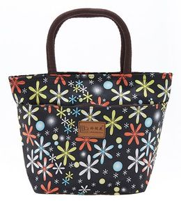 EZ Life Cute Floral Print Carry Bag - Black
