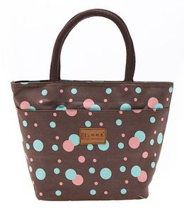 EZ Life Polka Dot Classic Carry Bag - Brown