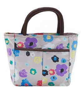 EZ Life Elegant Floral Print Carry Bag - White