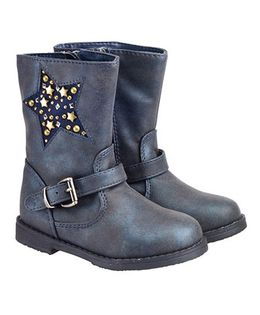 Mothercare Party Wear Boots - Navy Blue