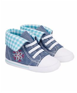 Mothercare Canvas Shoes Style Booties - Blue