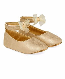 Mothercare Belly Shoes Style Booties - Golden