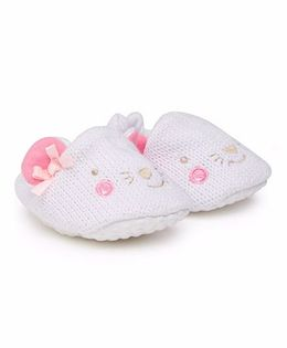 Mothercare Slip On Style Booties - White