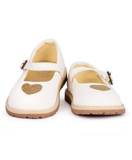 Mothercare Party Wear Belly Shoes - Cream & Golden