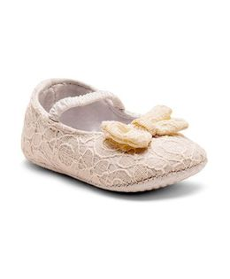 Mothercare Belly Shoes Style Booties - Cream