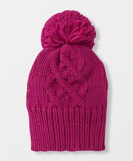 Mothercare Berry Knitted Woollen Cap - Purple