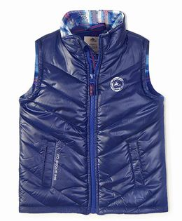 Cherry Crumble California Premiuim Lightweight Puffer Vest - Blue