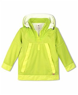 Cherry Crumble California Lightweight Windbreaker With Fleece - Neon Green