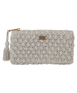Pluchi Poppy Knitted Coin Purse - Silver
