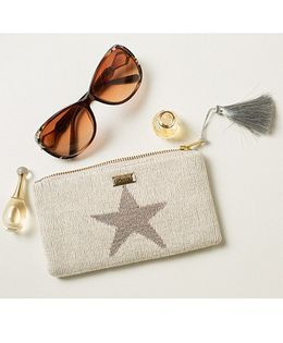 Pluchi Star Knitted Coin Purse With Tassel - Silver