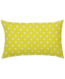 The Baby Atelier Organic Cotton Dots Junior Pillow Cover Without Filler - Yellow & White