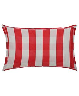 The Baby Atelier Organic Cotton Stripe Junior Pillow Cover Without Filler - Red White