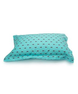 The Baby Atelier Organic Cotton Crab Junior Pillow Cover Without Filler - Blue