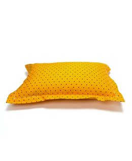 The Baby Atelier Organic Cotton Stars Junior Pillow Cover Without Filler - Yellow & Black