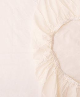 The Baby Atelier Organic Cotton Solid Fitted Crib Sheet - Off White