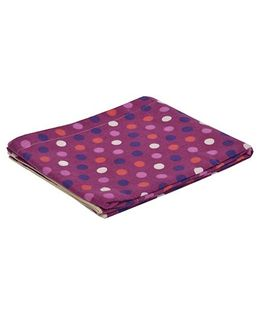 The Baby Atelier Organic Cotton Dot Baby Blanket - Purple