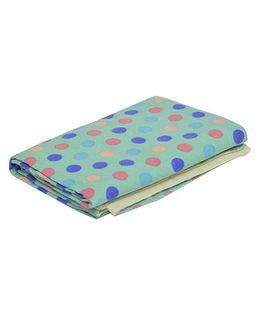 The Baby Atelier Organic Cotton Dot Junior Blanket - Green