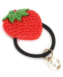 Treasure Trove Strawberry Pony Tail Holder - Red