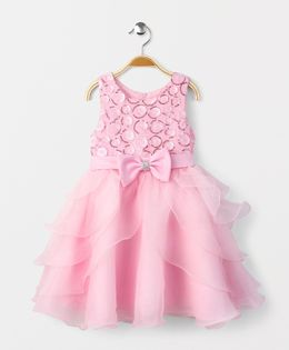 Fashion Collection by Meggie Party Dress With Bow At Waist - Light Pink