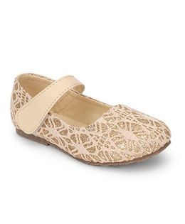 Spring Bunny Glittery Shoes - Gold