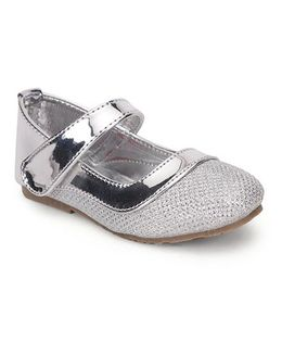 Spring Bunny Velcro Closure Stylish Shoes - Silver