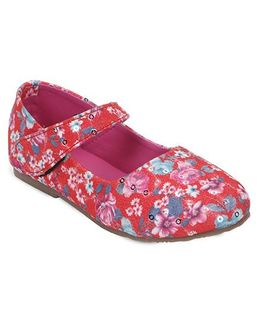 Spring Bunny Floral Shoes - Red