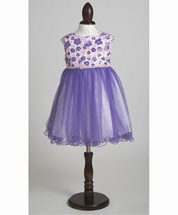 Whitehenz Clothing Rachel Net Party Dress with Stone Belt - Mauve