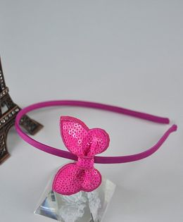 Little Miss Cuttie Butterfly Applique Hairband - Hot Pink