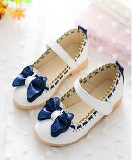 Princess cart Bow Knot Princess Shoes - White