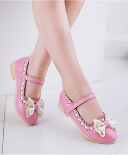 Princess cart Bow Knot Princess Shoes - Pink