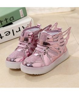 Princess cart Led Light Wing Styles Shoes - Pink