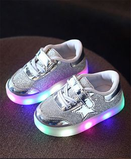 Princess cart Led Light Star Styles Shoes - Silver