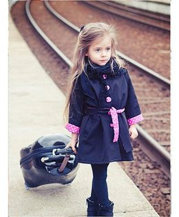 Princess cart Winter Warm Overcoat - Navy