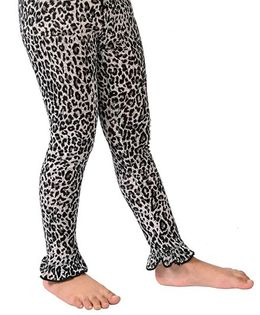 CrayonFlakes Leopard Printed Leggings - Grey