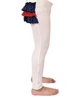 CrayonFlakes Back Frill Leggings - White