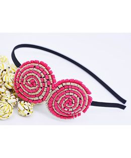 Little Tresses Partywear Double Puff Flower Hair Band - Pink