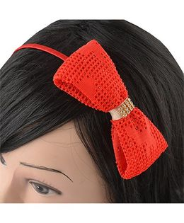 Miss Diva Beautiful Bow Red Hairband - Red