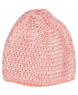 Miss Diva Super Soft Crochet Cap - Coral
