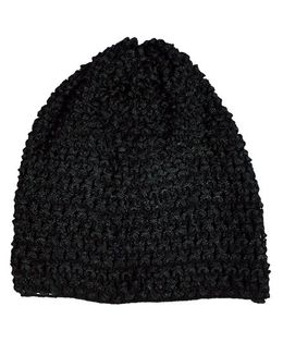 Miss Diva Super Soft Crochet Cap - Black