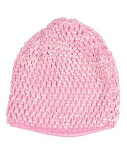 Miss Diva Super Soft Crochet Cap - Baby Pink
