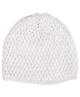 Miss Diva Super Soft Crochet Cap - White