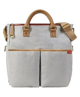 Skip Hop Duo Special Edition French Stripes Diaper Bag - Brown